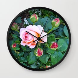 Heritage Rose Buds Wall Clock