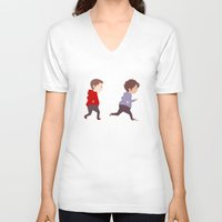 stiles V-neck T-shirts featuring Stiles & Scott by MaliceZ