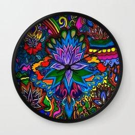 Lotus Flower Psychedelic Dreams Wall Clock