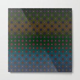 Geometric Abstract Pattern 9 Metal Print