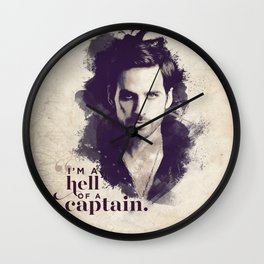A Hell of a Captain Wall Clock