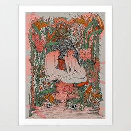 Two Sisters II: Bird of Paradise & Blood Orange Art Print