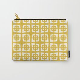 Mid Century Modern Pattern 271 Mustard Yellow Carry-All Pouch