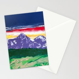 Purple mountains majesty Stationery Cards