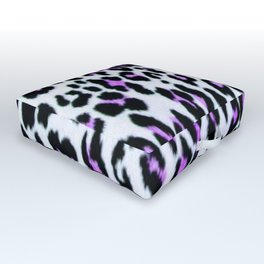 Purple Animal Print Outdoor Floor Cushion