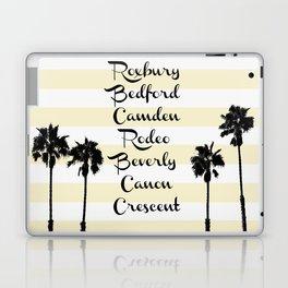 Beverly Hills Street Names Palm Trees Yellow Stripes Laptop & iPad Skin