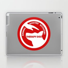 Animal Assisted Activities  - THERAPY DOG logo 4 Laptop & iPad Skin