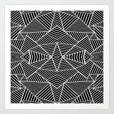 Ab Zoom Mirror Black Art Print
