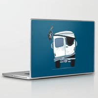 booty Laptop & iPad Skins featuring The Booty Wagon by Brandon Ortwein