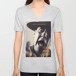 Full Metal Jacket, Stanley Kubrick, alternative movie poster, minimalist print, Vietnam War, Marines Unisex V-Neck