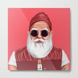 Hipstory -  Santa Claus Metal Print