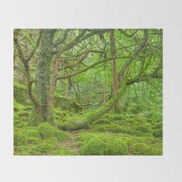 Emerald Forest Throw Blanket