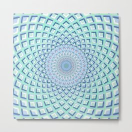 Just Breathe - Mandala Art Metal Print