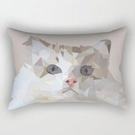 Low Poly cat portrait Rectangular Pillow