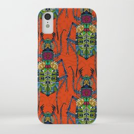 flower beetle orange iPhone Case