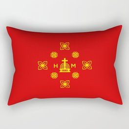 Affluence and God's Protection - Gold and Red Rectangular Pillow