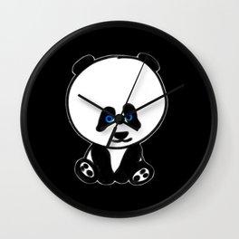 Chalkies panda color black Wall Clock