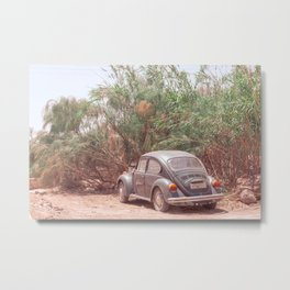 Vintage car on a hot summer day | Travel photograph in pastel from Greece | Fine art photo print.  Metal Print