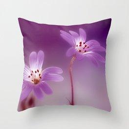 Purple Stitches Throw Pillow
