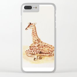 Baby G - The most loved Giraffe baby Clear iPhone Case