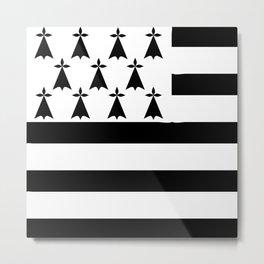 Brittany flag emblem Metal Print