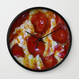 Pepperoni Pizza 🍕 Wall Clock