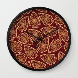 KC Chiefs Pattern Wall Clock