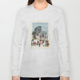 Potted Flowers I Long Sleeve T-shirt