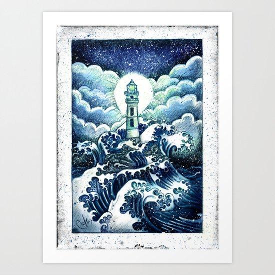 even in the darkest night light will prevail Art Print
