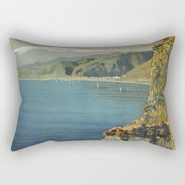 Vintage Taormina Sicily Italian travel ad Rectangular Pillow