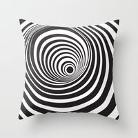 vertigo Throw Pillows featuring Vertigo by General Design Studio