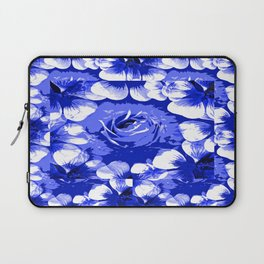 Roses Blue and White Toile #2 Laptop Sleeve