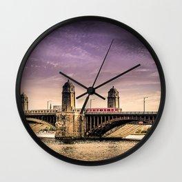 Longfellow Bridge, Boston MA Wall Clock