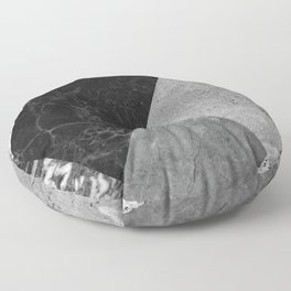 Marble and Granite Abstract Floor Pillow