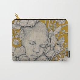 """""""Guardians"""" - Surreal Floral Portrait Illustration Carry-All Pouch"""