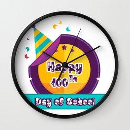 Happy 100 Days Of School Wall Clock
