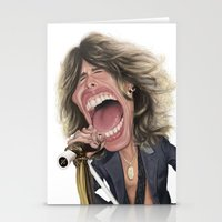 tyler spangler Stationery Cards featuring Steven Tyler by Sant Toscanni