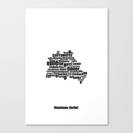 Berlin - Typocal Food Map Canvas Print