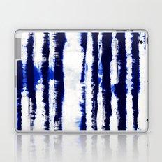 Tie-Dye Shibori Stripe Blue Laptop & iPad Skin