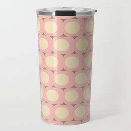 Dots and Triangles Pink  #midcenturymodern Travel Mug