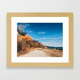 On this day last year it was summer Framed Art Print