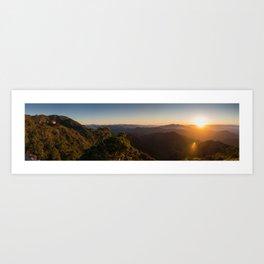 Ghost Lake Sunset Art Print