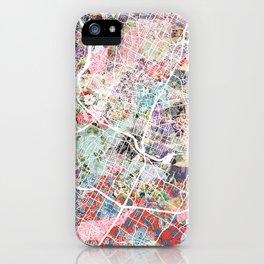 Austin map - Portrait iPhone Case