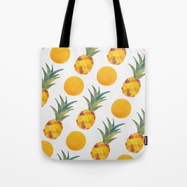 Pineapple Dot Pattern Tote Bag
