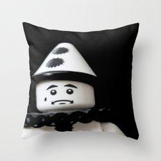 The Sad Sad Clown Throw Pillow