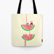 watermelon falls Tote Bag