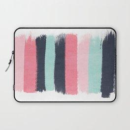 Cecily - abstract paint brush strokes paintbrush brushstrokes boho chic trendy modern minimal  Laptop Sleeve