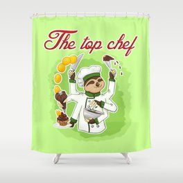 Commissions | Sloth Chef Shower Curtain
