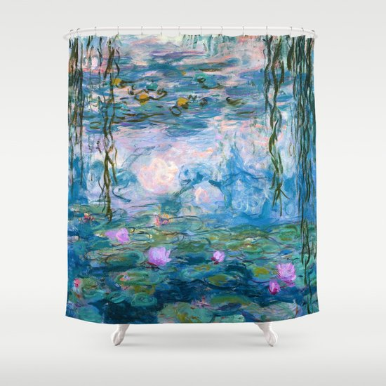 Water Lilies Monet Teal by purelove