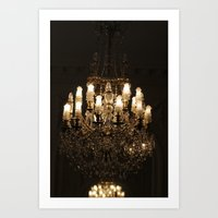 chandelier Art Prints featuring Chandelier by Scotty Photography